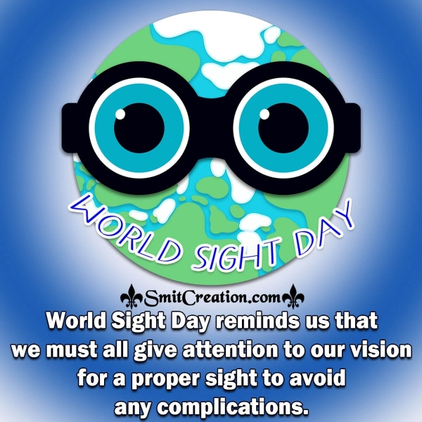 World Sight Day Reminder Message