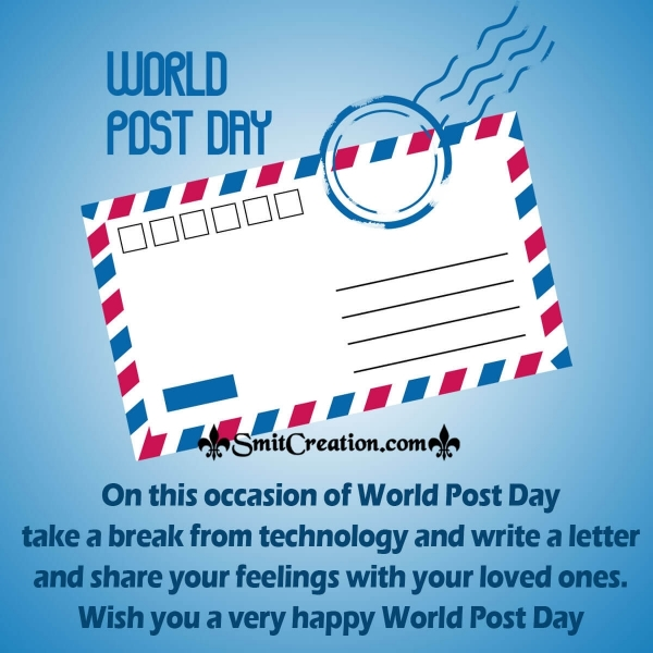 Wish You Very Happy World Post Day