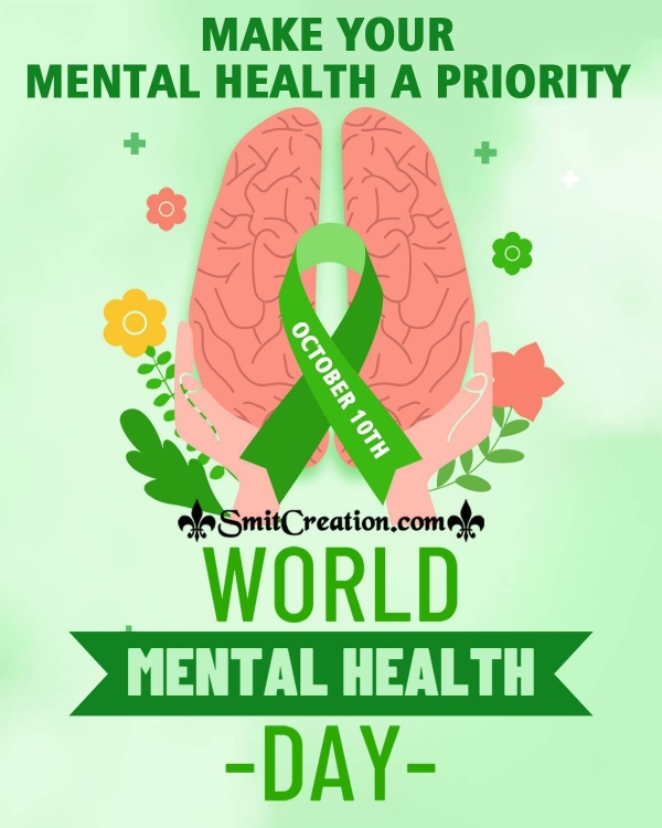 World Mental Health Day Caption Poster