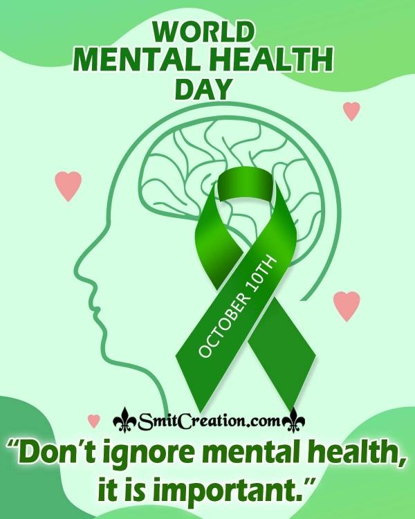 World Mental Health Day Poster Message