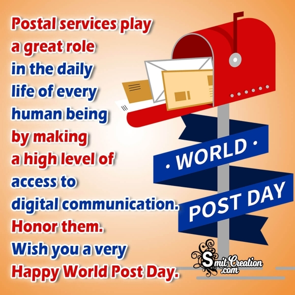 Happy World Post Day Message Image