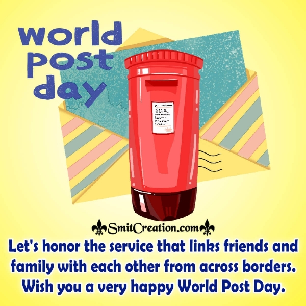 World Post Day Message Image