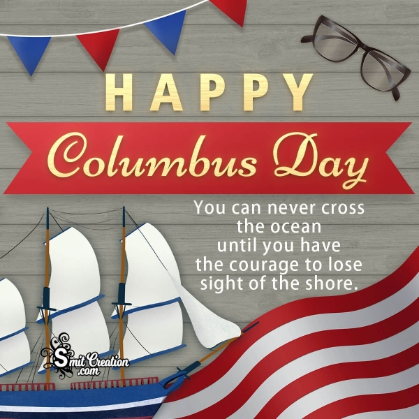 Happy Columbus Day Quote Image