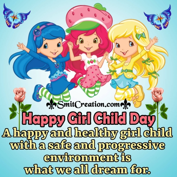 Very Happy Girl Child Day