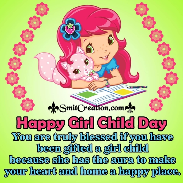 Happy Girl Child Day Blessings