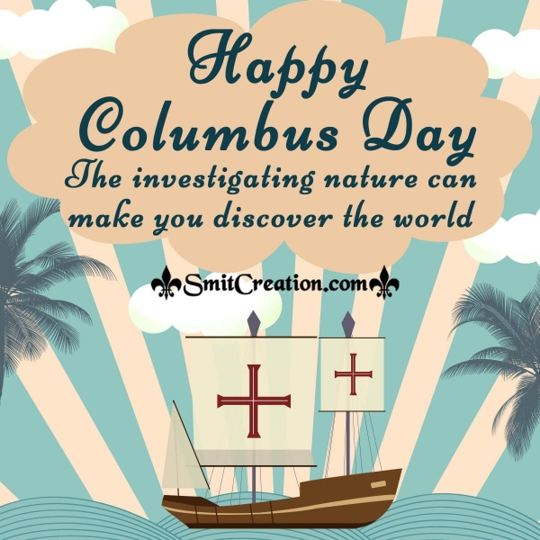 Happy Columbus Day Message