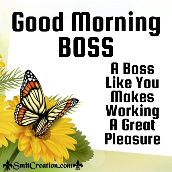 Good Morning Great Boss