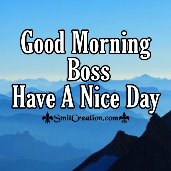 Good Morning Boss Have A Nice Day