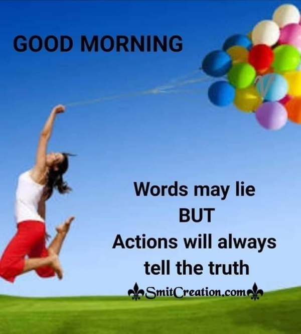 Good Morning Words May Lie