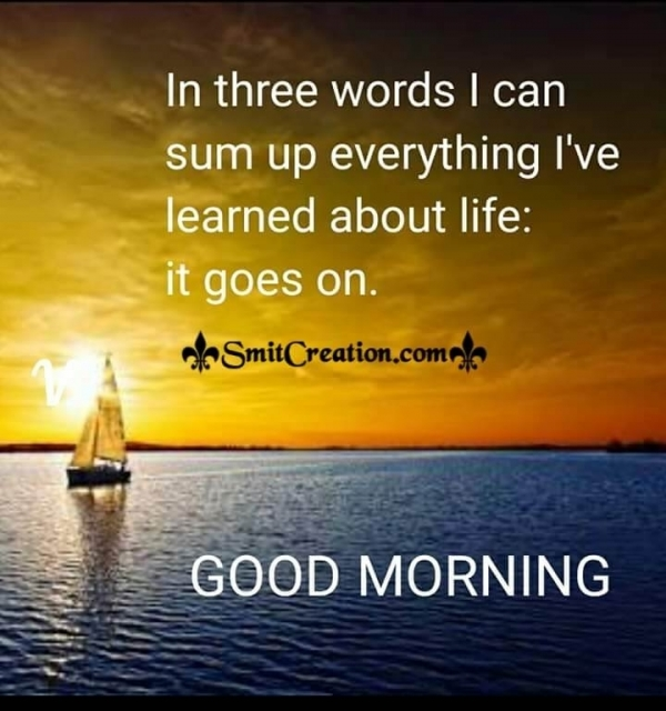 Good Morning 3 Words Of Life