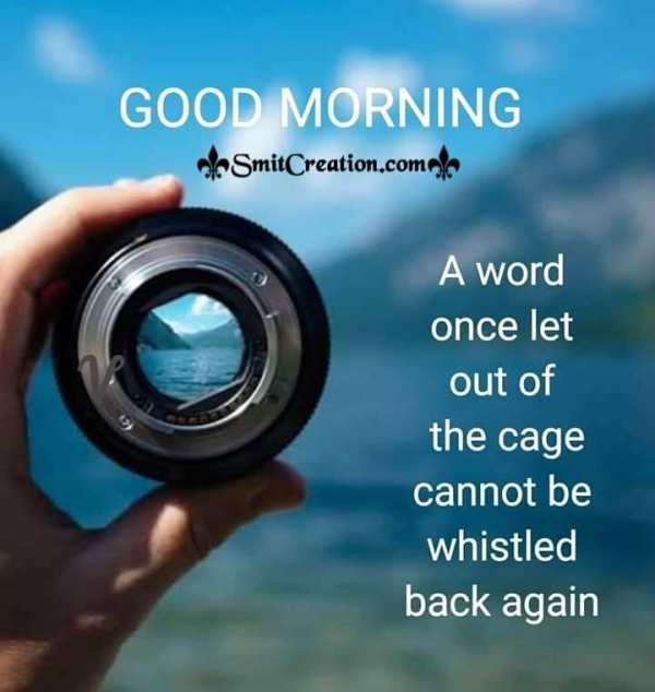 Good Morning A Word Quote