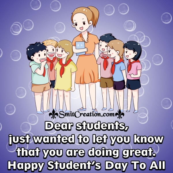 Happy World Student's Day To All Students