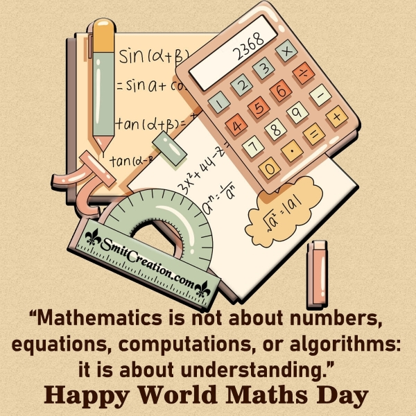 Happy World Maths Day Quote