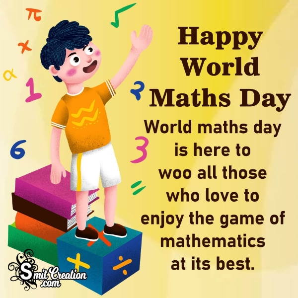 Happy World Maths Day Quote Image