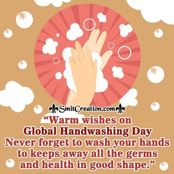 Warm Wishes On Global Handwashing Day