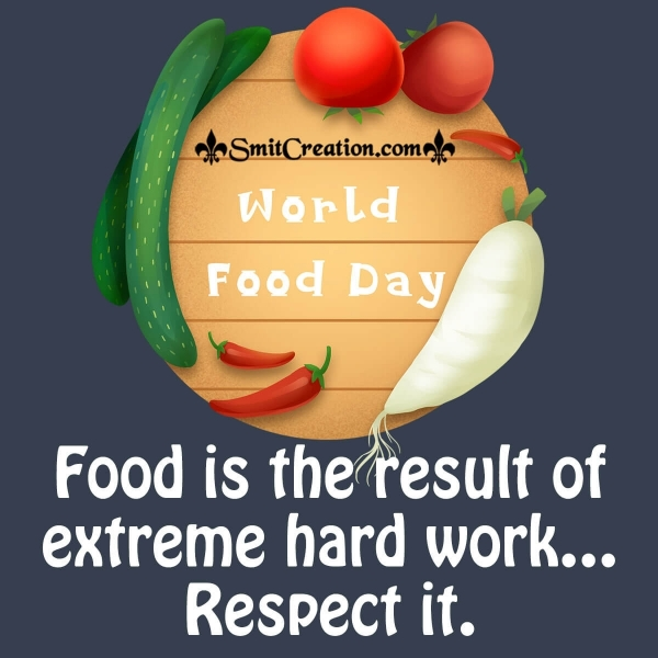 World Food Day Message Image