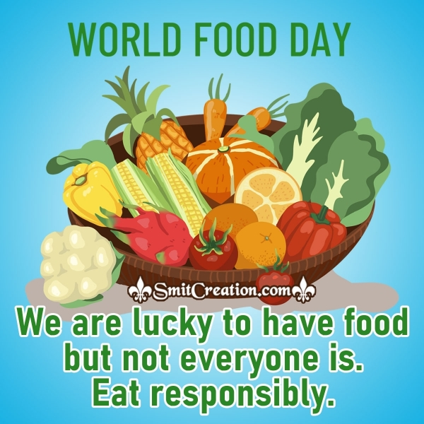 World Food Day Message Picture