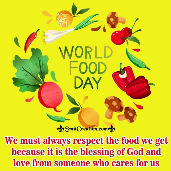 Happy World Food Day To You