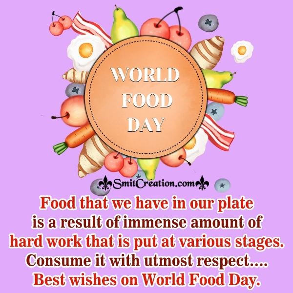 Best Wishes On World Food Day