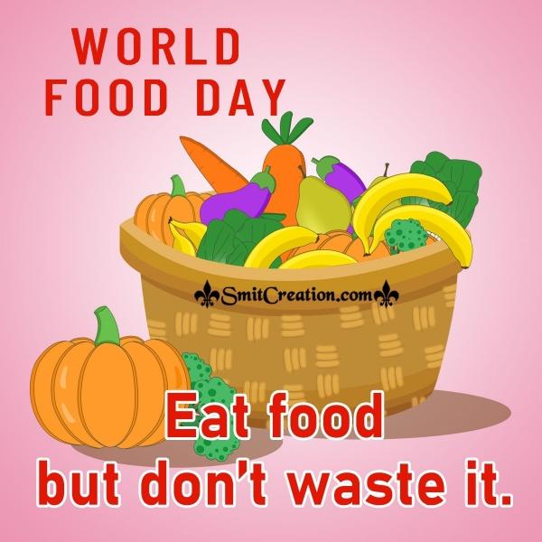 World Food Day Slogan Image