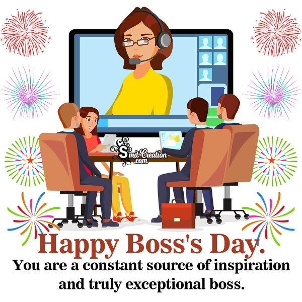 Happy Boss's Day To Inspirational Boss