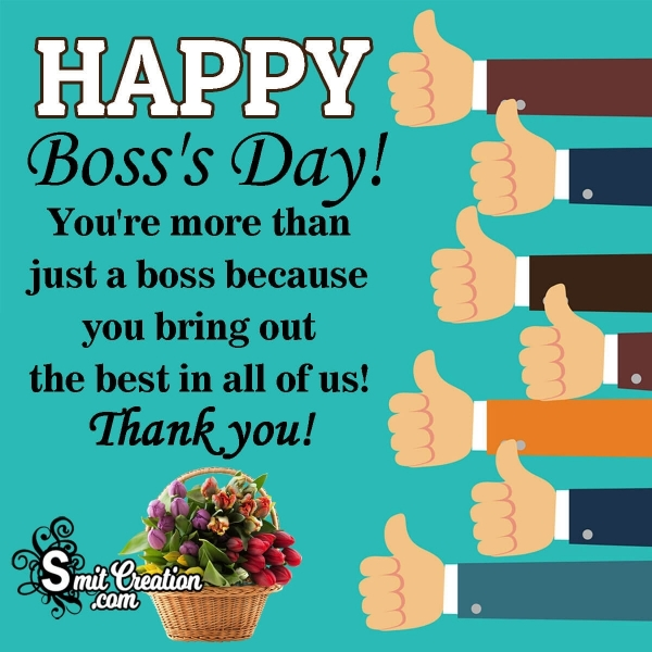 Happy Boss's Day! Thank You Message