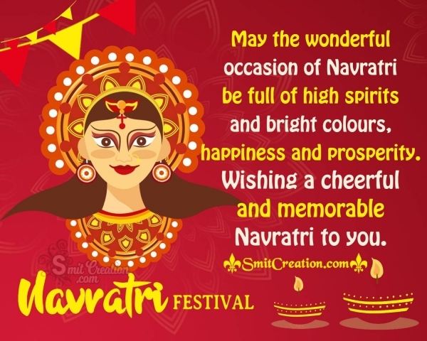 Wishing A Cheerful And Memorable Navratri