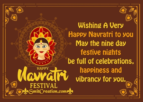 Wishing A Very Happy Navratri To You