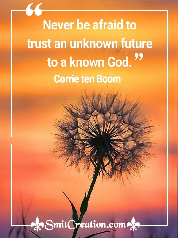 Never Be Afraid To Trust An Unknown