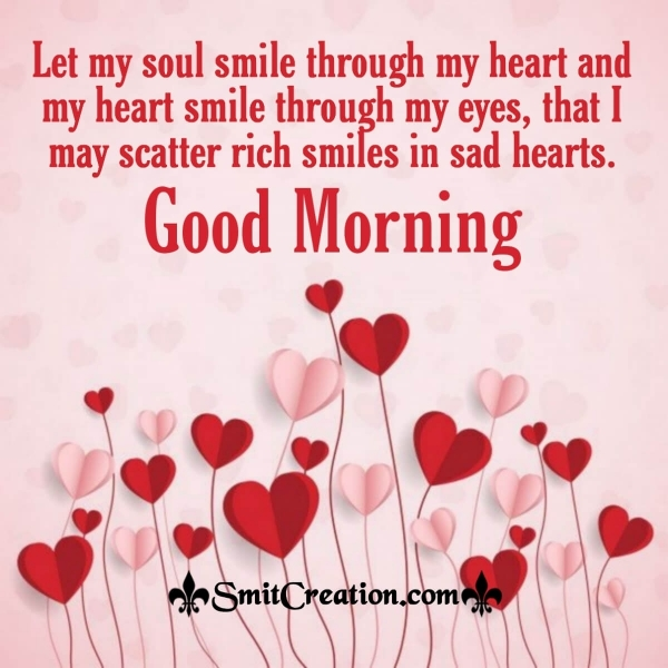 Good Morning Smile Heart Quote
