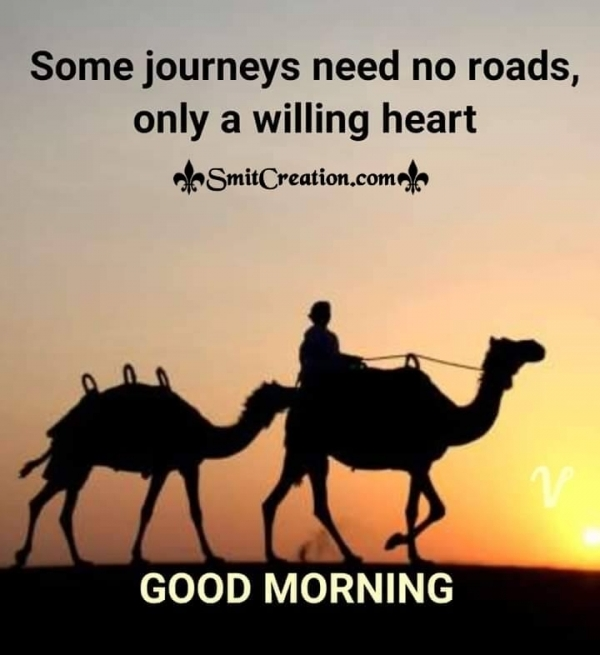 Good Morning Willing Heart Quote