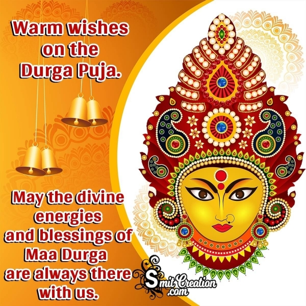 Warm Wishes On Durga Puja Image