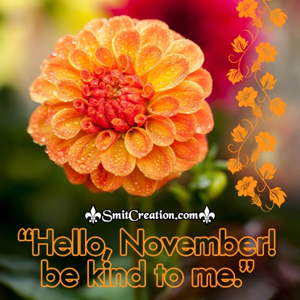 Hello November Be Kind To Me