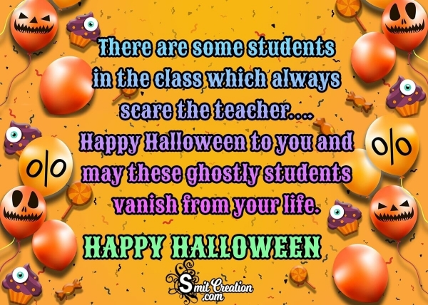 Halloween Wishes and Text Messages for Teachers