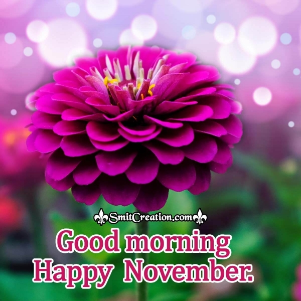 Good Morning Happy November