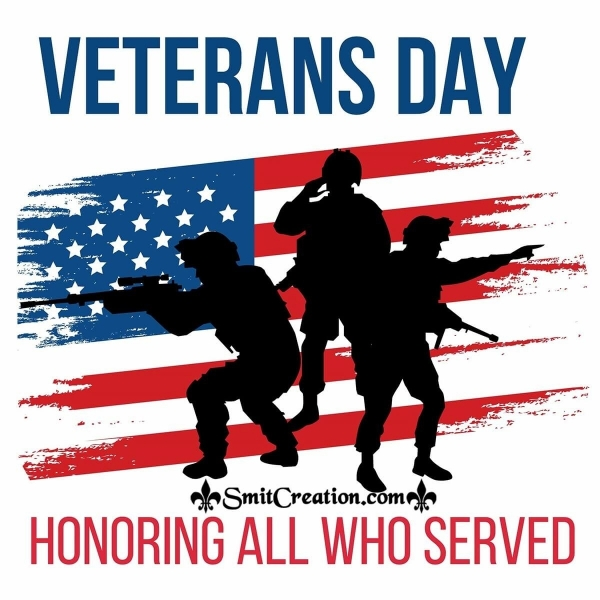 Honouring All Who Served - Veteran Day Image