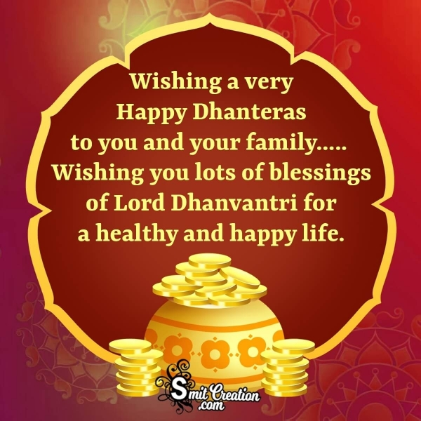 Happy Dhanteras Wishes Whatsapp Status Image