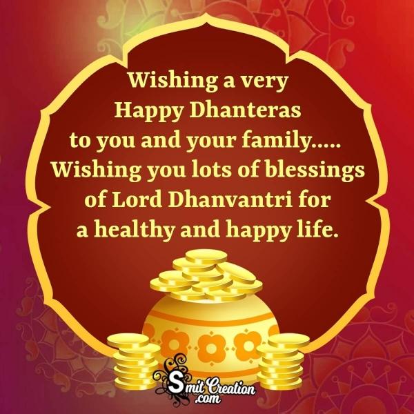 Happy Dhanteras Wishes Whatsapp Status Image