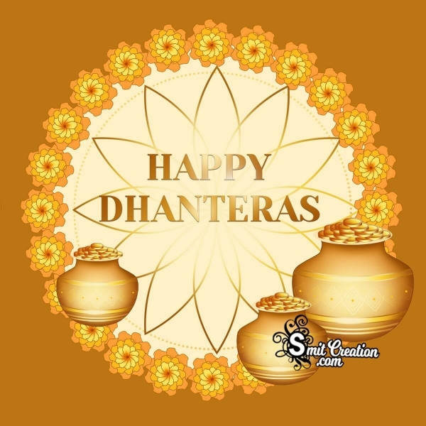 Happy Dhanteras Gold Pots Image