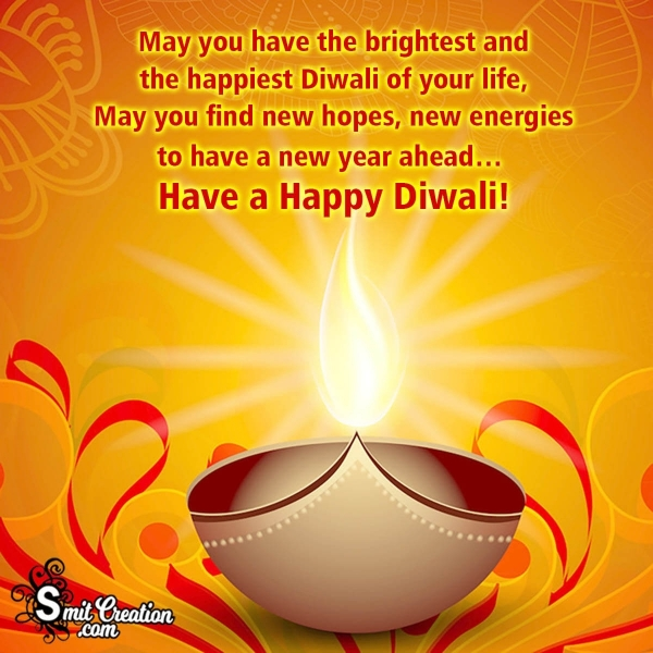 Brightest Happy Diwali Message Image