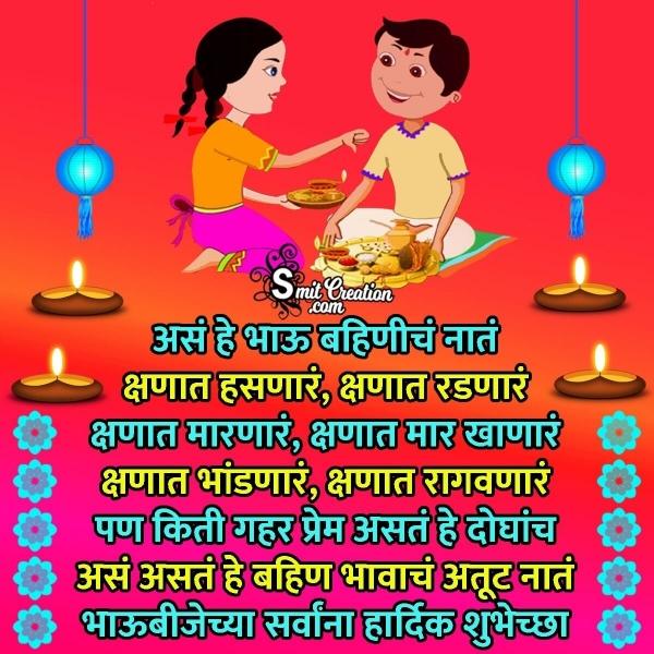 Bhaubeej Marathi Quote Image