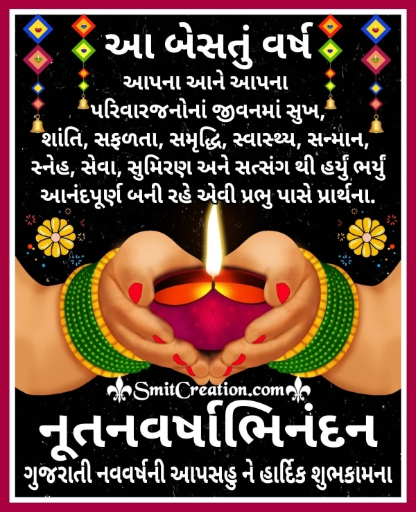 Gujarati New Year Wishes Image
