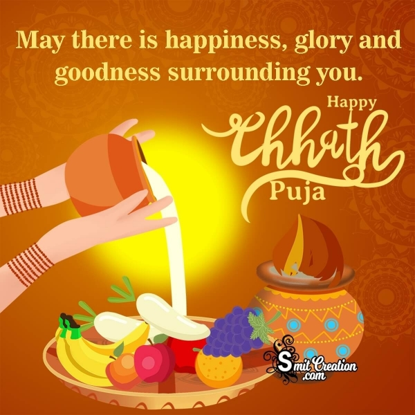 Happy Chhath Puja Messages for Wife in English