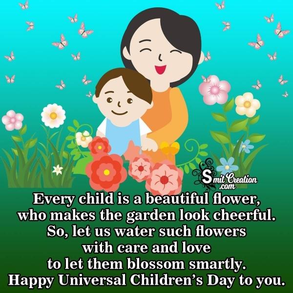 Universal Children's Day Messages from Teachers