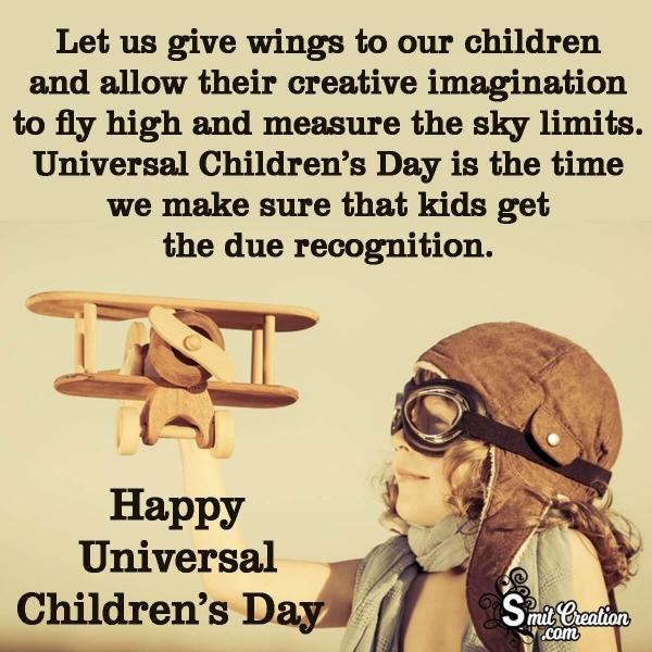 Happy Universal Children's Day Wishes