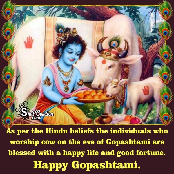 Happy Gopashtami Quote In English