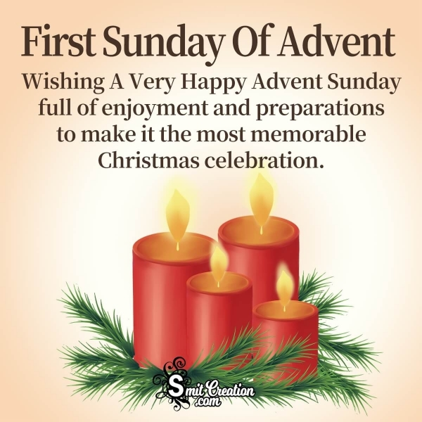 Advent Sunday Wishes Message
