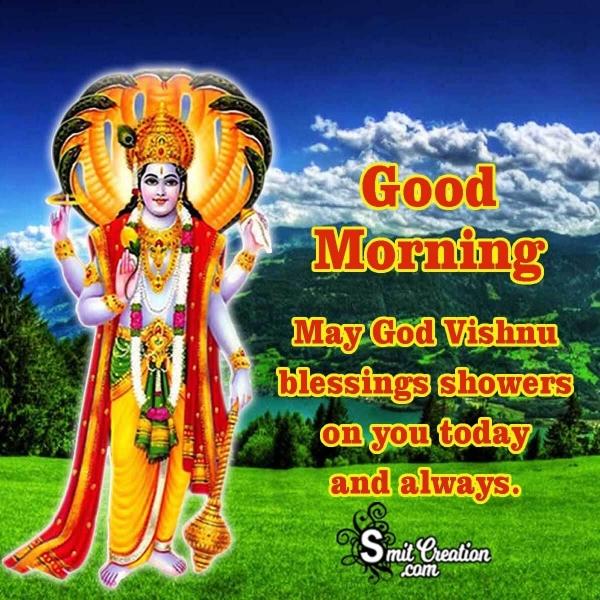 Good Morning God Vishnu Blessings