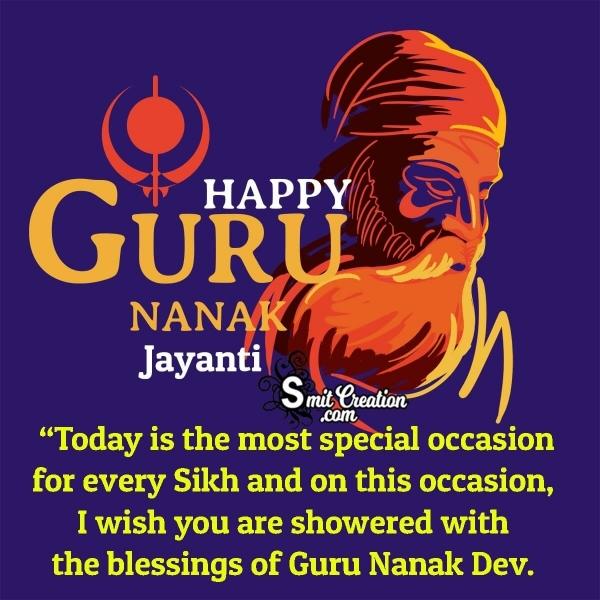 Happy Guru Nanak Jayanti Blessings