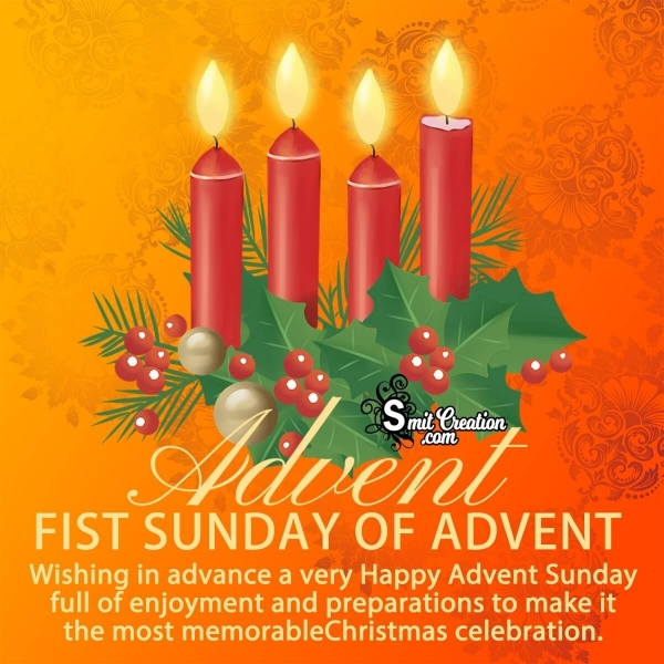 First Sunday Of Advent Advance Wishes